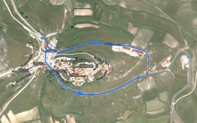 Viabilità e aree sosta a Castelluccio di Norcia